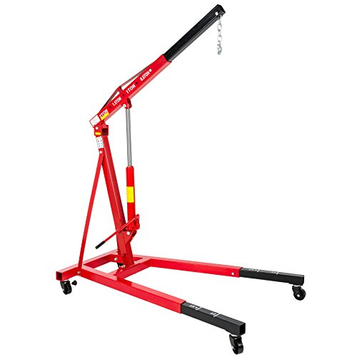 TecTake Werkstattkran Tragfähigkeit bis 2000 kg Motorkran Hebekran klappbar // Gesamtgewicht: 123 kg