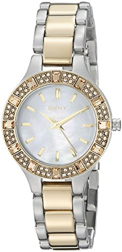 DKNY NY8742 Two-Tone Mother Of Pearl Dial Women's Watch