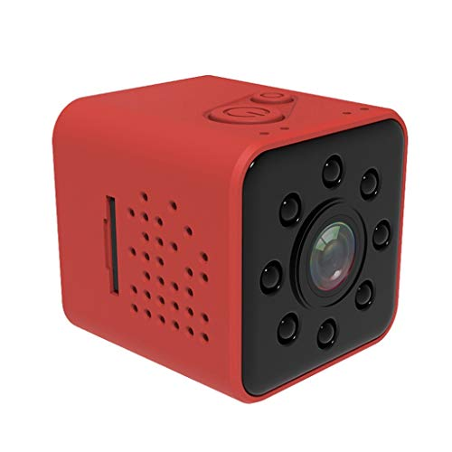 Tao Mini-Kameras Mini Kamera WI-FI Kamera Shell Sensor CMOS Full HD 1080P Wasserdichter Nachtsicht-Camcorder (Farbe : Rot) -