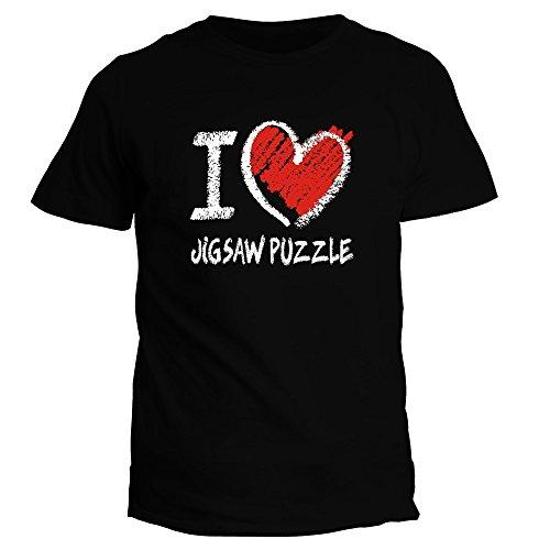 Idakoos I Love Jigsaw Puzzle Chalk Style - Ocio - Camiseta
