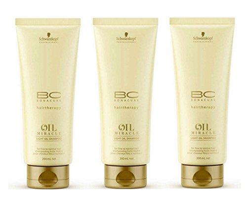 Light Huile BC Oil Miracle Shampooing 200 ml Lot de 3 (3 x 200 ml)
