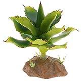 perfk Künstliche Sukkulenten lebensechte Pflanzen Deko für Terrarium und Aquarium - Typ 5