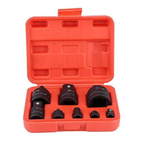 Steckschlüsselsatz, 8-tlg. Steckschlüsselsatz Professional Impact Socket Driver Adapter Konverter Reducer Ratschenstecker Steckschlüssel-Adaptersatz 1 / 4inch 3 / 8inch 1 / 2inch 3 / 4inch 1inch mit r -