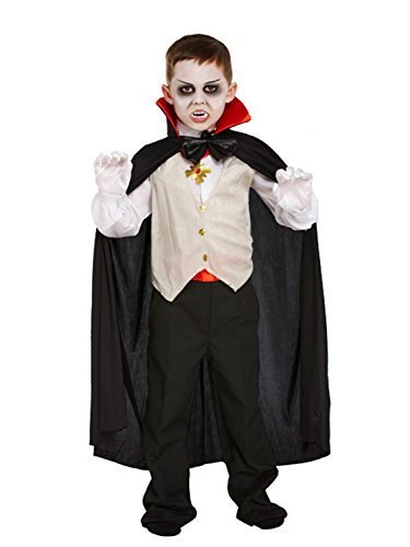 Dracula Vampir-Kostüm für Kinder - Halloween-Kostüm - Größe M