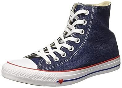 Converse Women's Textile Indigo/Enamel Red/Blue Sneakers-6 UK/India (39 EU) (8907788162529)
