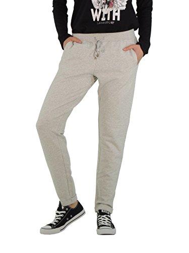 Liu Jo pantaloni donna in cotone garzato T65108F0276 (L, GRIGIO PERLA)