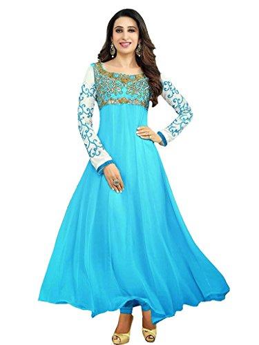 Shree Brahmani fashion Women's Karishma Kapoor New Sky Designer Anarkali Suit