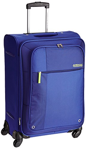 American Tourister Hugo Polyester 66 cms Blue Softsided Suitcase (53W (0) 01 002)