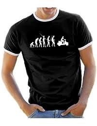 Coole-Fun-T-Shirts Herren T-Shirt Scooter evolution VESPA Roller Scooterist RINGER
