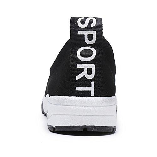Kotzeb Scarpe Sportive Loafers da Donna Running Jogging Ginnastica Sneakers Traspirante Casuale Leggero Piattaforma 3.5CM Tennis Slip On Shoes Nero Blu Rosso Bianco 35-40 Nero