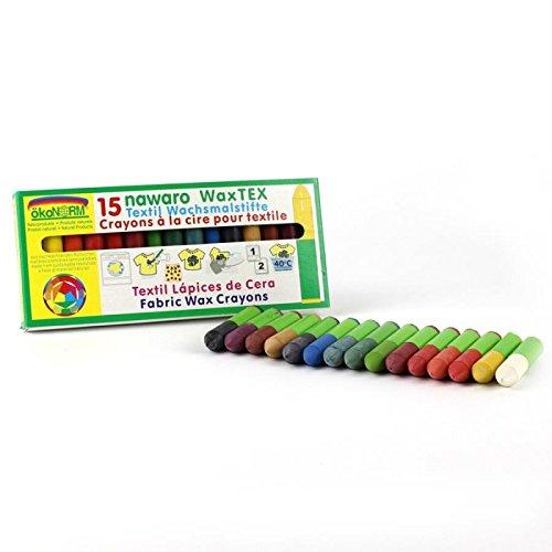 Orgánica crayón sólida CERA TEX 15 piezas