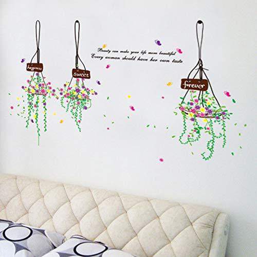 ELGDX Wandaufkleber DIY Home Decor Elegante Farbe Korb für Dekoration Haus Restaurant Tür Decoracion Casa