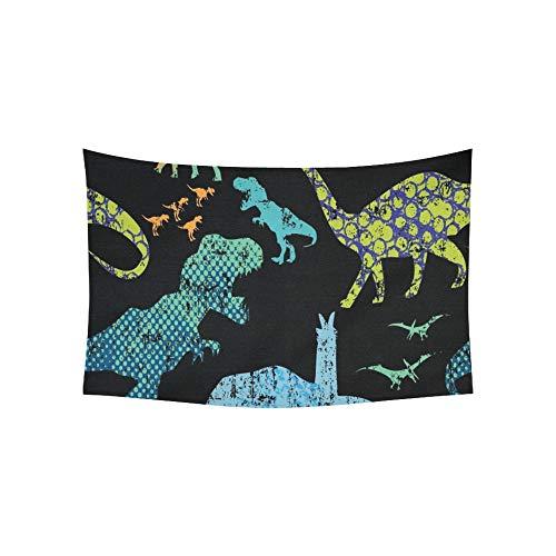 Zemivs Tapiz Dino Estampado Camisetas Textiles Tapices Tapiz de Pared