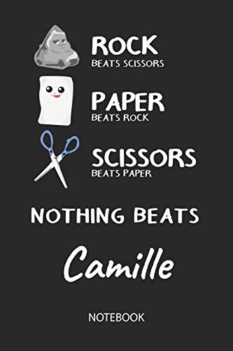 Nothing Beats Camille - Notebook: Rock Paper Scissors Game - Blank Ruled Kawaii Personalized & Customized Name Notebook Journal Girls & Women. Cute ... School Supplies, Birthday & Christmas Gift. -