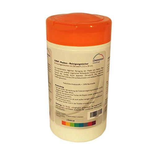 Löwenstein CPAP Masken Reinigungstücher Zitrus 62 Tücher (Masken Für Cpap-geräte)