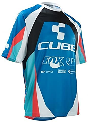 Cube Action Team RN SS Jersey - XL/ Bicycle Cycling Cycle Biking Bike Mountain MTB Roadie Road Riding Ride Team Pro Peloton Jersey Shirt Top Torso Upper Body Clothing Clothes Kit Gear Wear Apparel Short Sleeve Adult Man Tour Racing