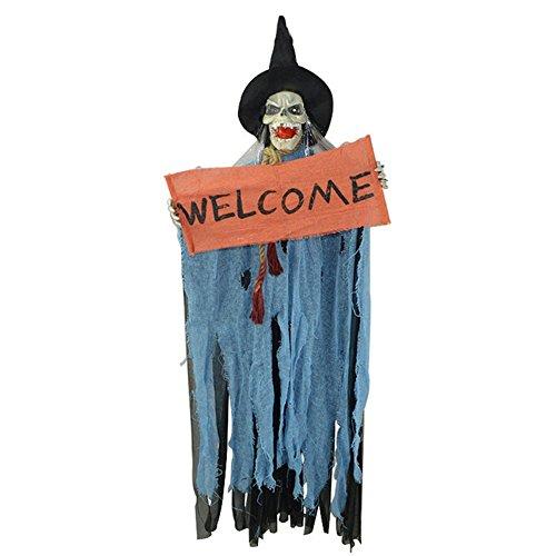 Zantec Halloween Dekoration Yard Haunted Haus Horror Hanging Ghost Augen Bright Scary Voice Sound Control Props Halloween Party (Clown Beängstigend Kostüme Toten)