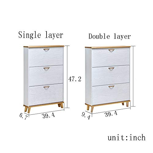PNYGJXJ Kipp-Eimer Massivholzschuh Aufbewahrung Verstellbares Lagerregal Multifunktions-SchuhregalKabinett für Badezimmer im Eingangsbereich (Size : Single layer-47.2 * 6.7 * 35.4inch)
