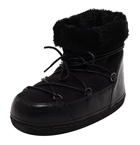 ZAPATO EUROPE Damen Winter Boots Fellstiefel Kurzstiefel Plüsch Winterschuhe warm gefüttert Gr. 37-41 schwarz (37)
