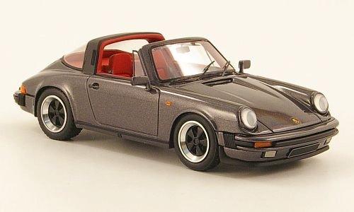 Porsche 911 Carrera 3.2 Targa, met.-grau, Modellauto, Fertigmodell, Look Smart 1:43