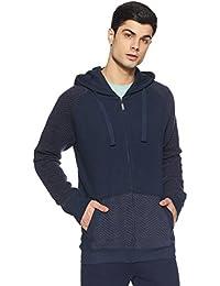 United Colors of Benetton Men's Cotton Sweatshirt (17A3QLTJ8009I901EL_Blue_EL)