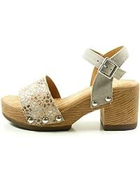 Suchergebnis auf Amazon.de für  Sandalen Holz - Leder   Schuhe ... cdbb77ea3a