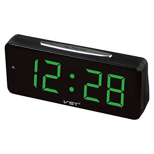 Kaxima Digitaler Wecker Carillon de LED Horloge Naturelle Son Radio-réveil avec Heure Compteur électronique Fonction 18,8 * 4,7 * 8,5 cm