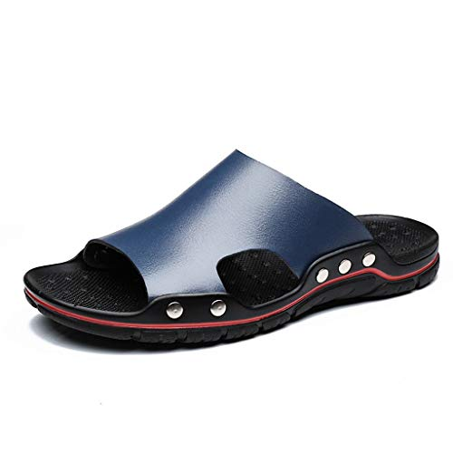 Pantofole Sandali Antiscivolo Scarpe Marea Traspirante con Fondo Morbido Estate Casual Uomo (44 EU,Blu Scuro)