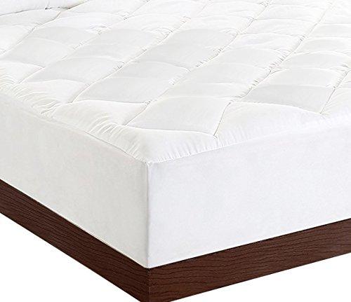 Matratzenauflage – Matratzenschonbezug, Stretch bis zu 38 cm Tief, Plüsch, weich und hochwertige Matratzenauflage von Utopia Bedding (Weiß,90 x 200 cm)