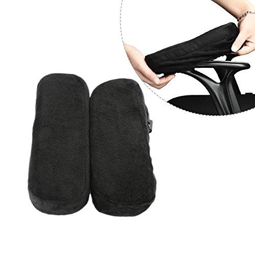 Arm-Eaz Armlehnen Polster für Bürostuhl und Spielstuhl, Memory-Schaum Armlehne Pads Arbeitsplatz Schreibtischstuhl Armlehnen Kissen für Ellenbogen Komfort -