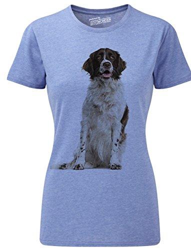 Siviwonder Women T-Shirt MÜNSTERLÄNDER Jagdhund Hunde Blue Marl