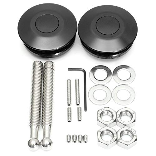 2X Universal Tasten Billet Hood Pins Lock Klipp Auto Schnellverriegelung Bonnet für Vorwiegend Auto mit Komplettinstallation Hardwares