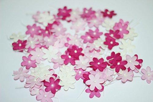 Rosa tono 100 Mulberry carta fiore fiore matrimonio Scrapbooking 2.0 cm.