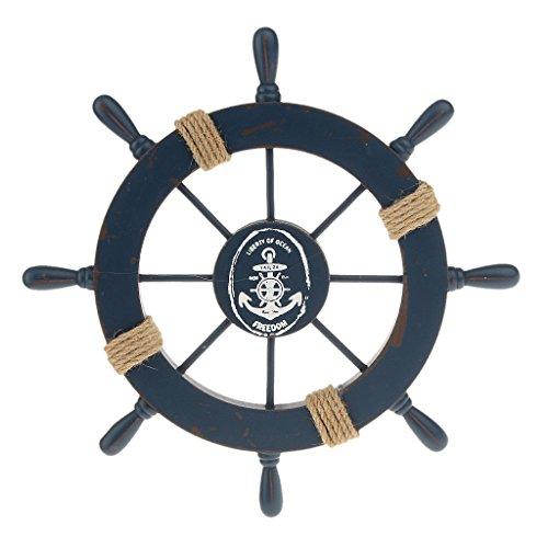 spiaggia-nautica-barca-di-legno-nave-sterzo-casa-ruota-decorazione-della-parete-blu-scuro