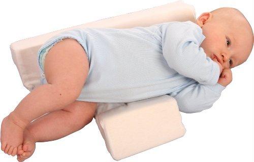 Babykissen - Stützkissen Lagerungskissen für Baby 2 Keilen-Seitenschläferkissen Schlafhilfe