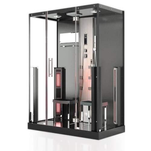 Infrarot Dampfdusche NIAGARA 2 Personen Dampfdusche Sauna Dusche Infrarot 3,02 kW Spa