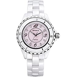 Fashion white ceramic watch/Waterproof quartz watches/Business casual watches-A