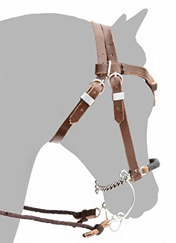 Handmade Leather Headstall with Hackamore for Traditional Sized Breyer Model Horses