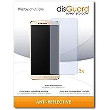 3 x disGuard Anti-Reflective Lámina de protección para Elephone P8000 4G / P-8000 4G - ¡Protección de pantalla antirreflectante con recubrimiento duro! CALIDAD PREMIUM - Made in Germany