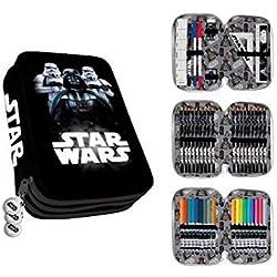 PEQUEFIESTA 00357; Plumier Triple Star Wars, Darth Vader; 44 Piezas.