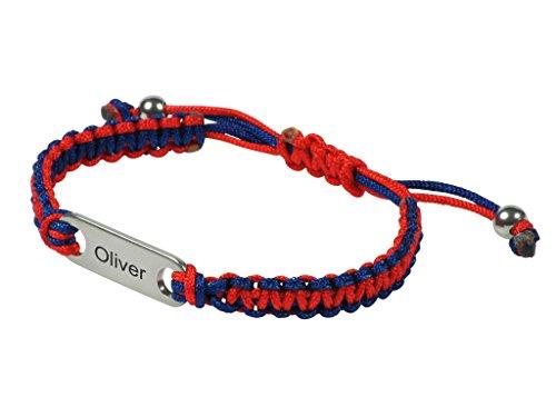 rosso-di-my-blu-fusion-nome-bugle-braccialetto-dellamicizia-per-bambini-in-acciaio-inox-stile-ali-id