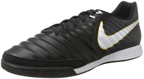 Nike Tiempox Ligera IV IC, Chaussures de Football Homme Noir (Black/white-black-metallic Vivid Gold)
