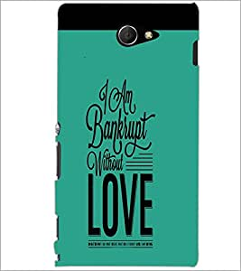 PrintDhaba Quote D-4243 Back Case Cover for SONY XPERIA M2 (Multi-Coloured)
