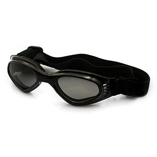 Lesypet stilvolles und Fun Tier / Hundewelpen UV-Schutzbrillen Sonnenbrille wasserdichten Schutz Sun-Brille fuer Hunde-Schwarz