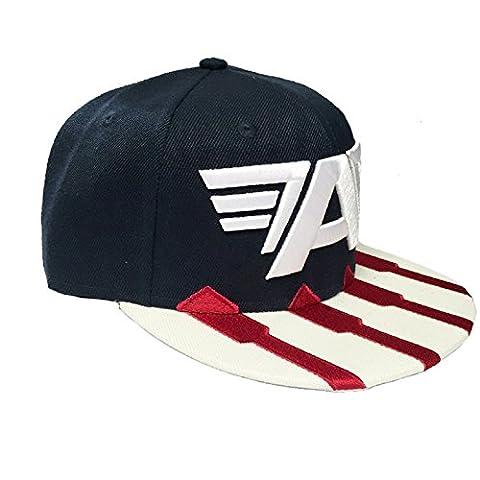 Captain America Civil War Casquette de baseball Big A logo nouveau Bleu snapback