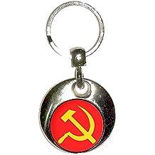 Soviet Union Flag - Cromo Ronda de doble cara llavero