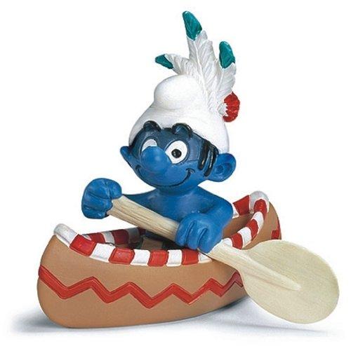 Figura de pitufo en canoa 3