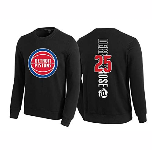 # 25 kolben Derrick Rose Basketball Langarm Jersey Pullover Trainingsanzug männer Jungen Casual Wettbewerb sportbekleidung Sport top s-3xlBetreten Sie den Laden mehr-Black-S