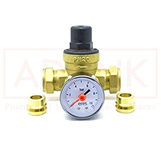 Altecnic 15mm and 22mm Pressure Reducing Valve 3 bar with Gauge