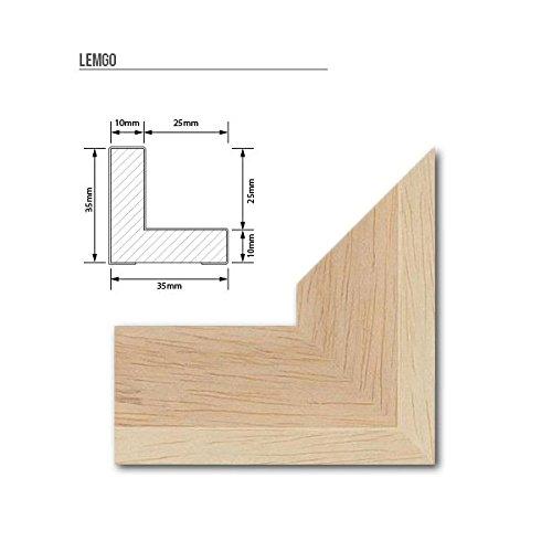 Schattenfugen - Rahmen LEMGO 70 x 100 cm Natur (unbehandelt) Massivholz